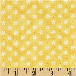 Peaceful Pastimes Mini Daisy w/ Dot Yellow Fabric