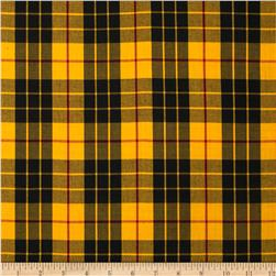 Kaufman House of Wales Plaid Yellow
