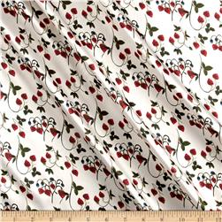 Liberty of London Belgravia  Silk Satin Charmeuse Strawberry Fields Cherry/Cream