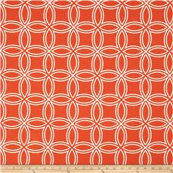 Largo Acrylic Indoor/Outdoor Wide Circles Orange
