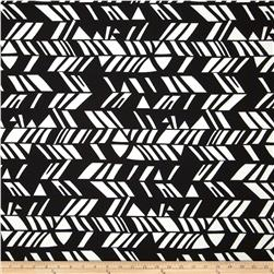 Paola Pique Knit Abstract Print Black/Oyster White