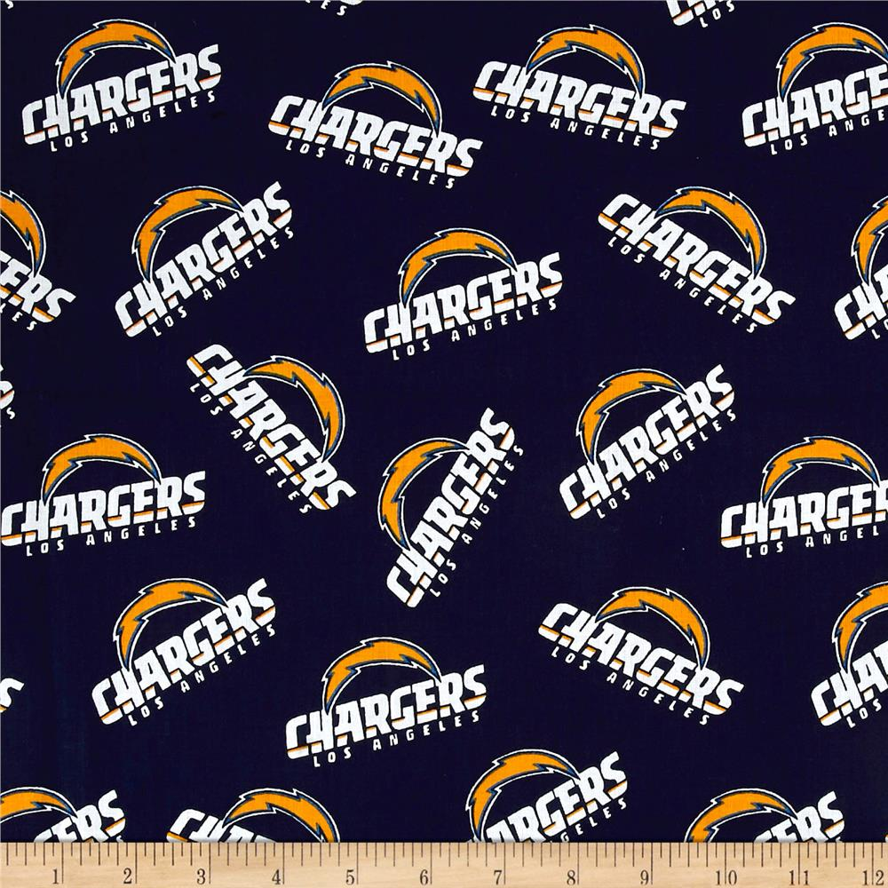 NFL Cotton Broadcloth Los Angeles Chargers Navy