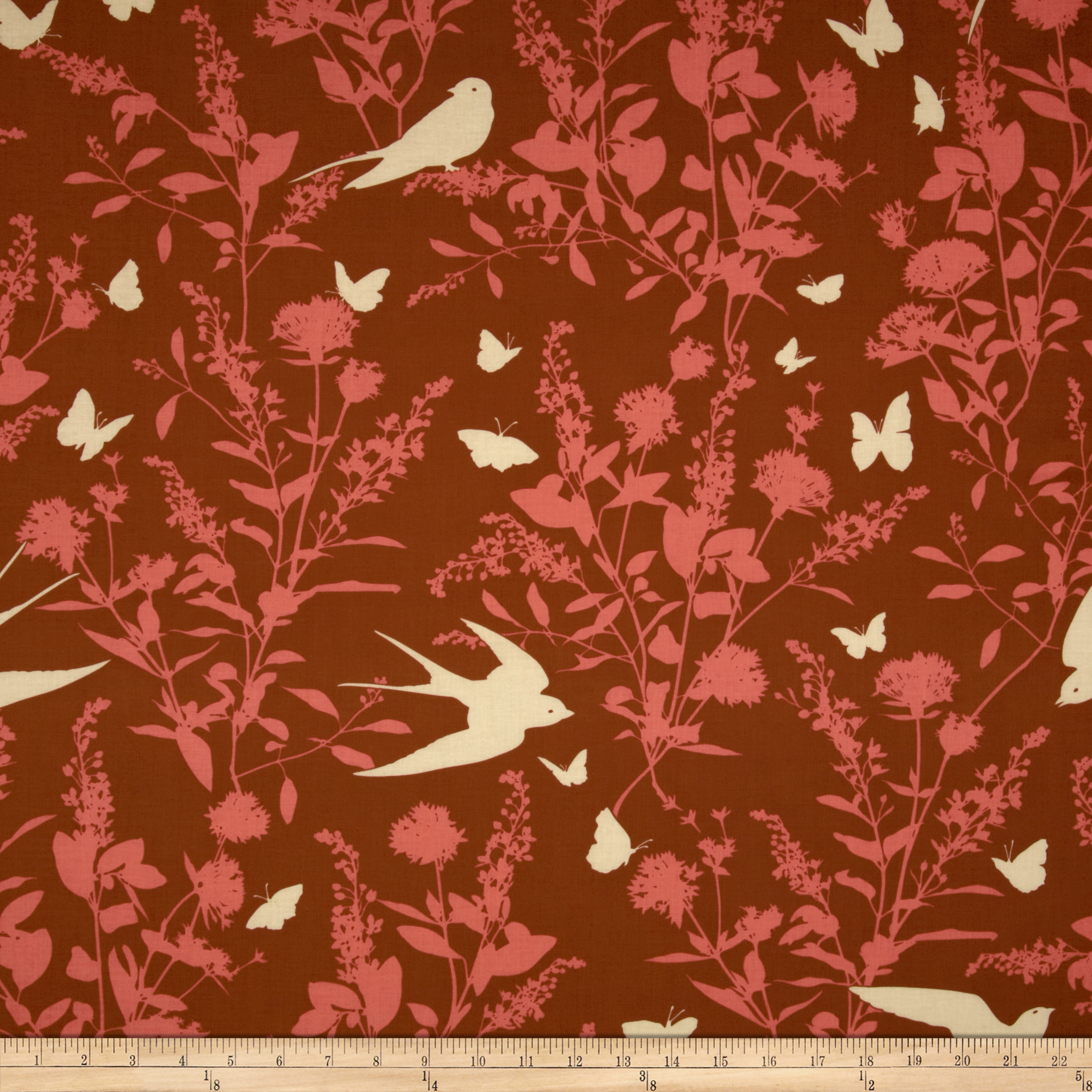 Joel Dewberry Bungalow Swallow Study Chestnut Fabric