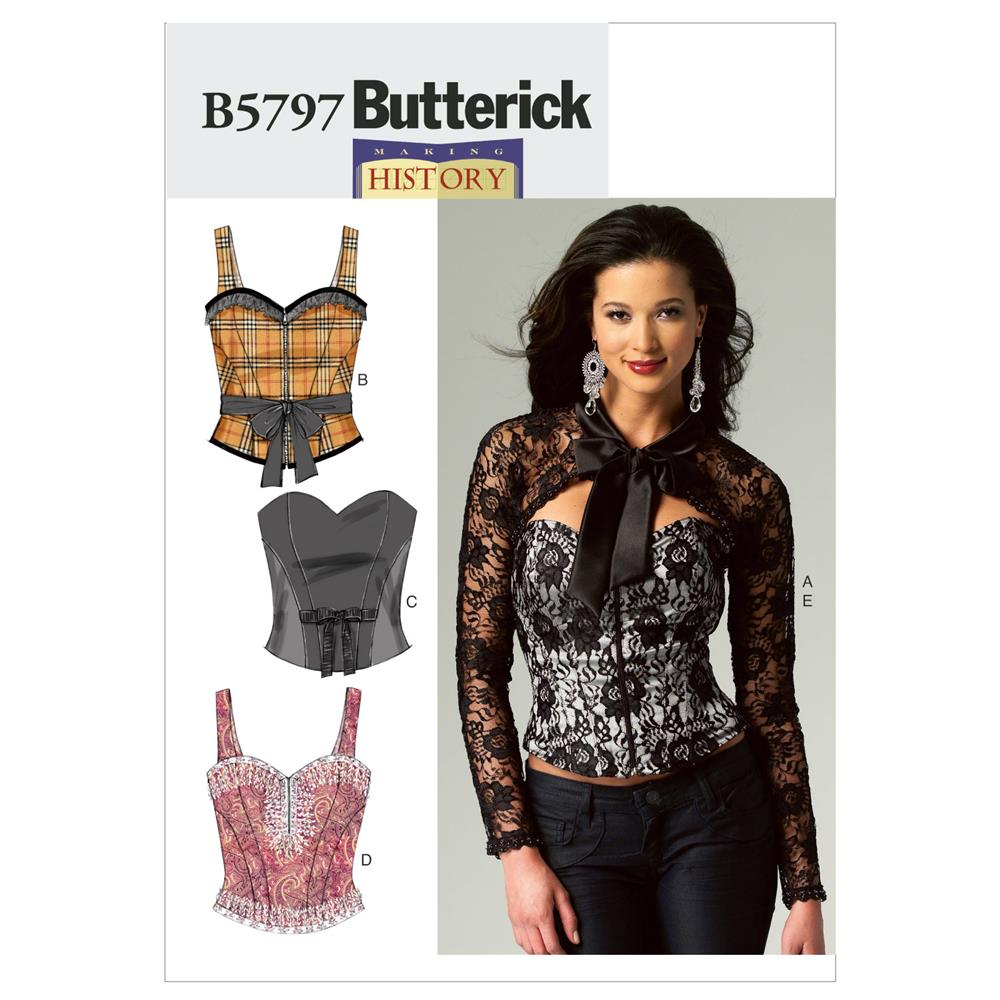 Butterick Misses' Corset, Sash and Shrug Pattern B5797 Size A50
