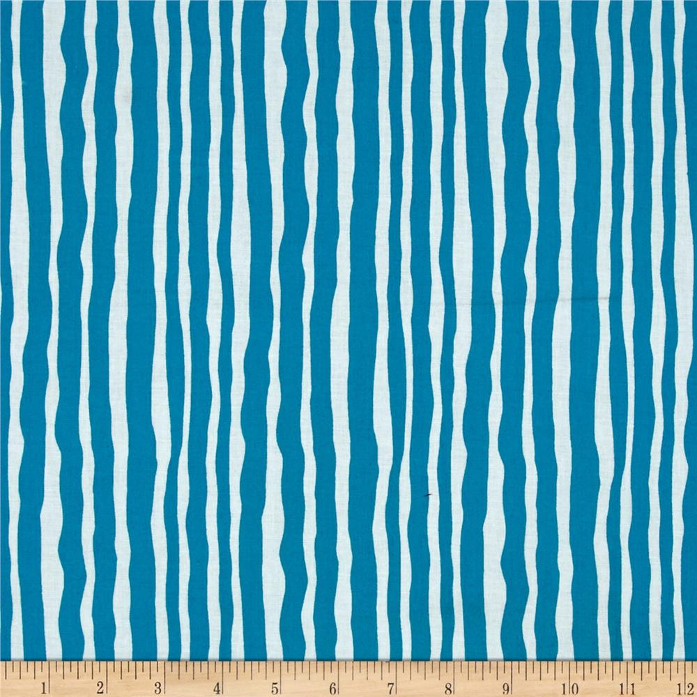 Contempo Palm Springs Palm Stripe Dark Turquoise