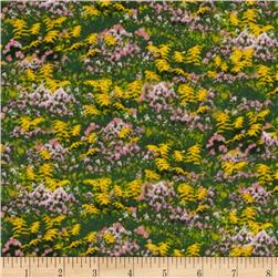 Apple A Day Floral Field Green/Yellow