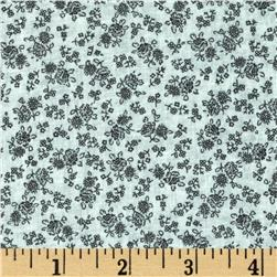 Cotton Lawn Print Ditzy Floral Black/Off White