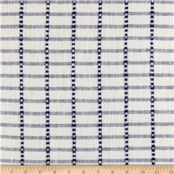 Moda Blue Plate Toweling Checkerboard Cream/Blue