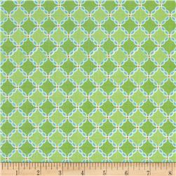 Riley Blake Flower Patch Lattice Green