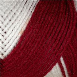 Red Heart Team Spirit Yarn (976) Burgundy/White