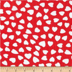 Yoryu Chiffon Large Hearts White/Red