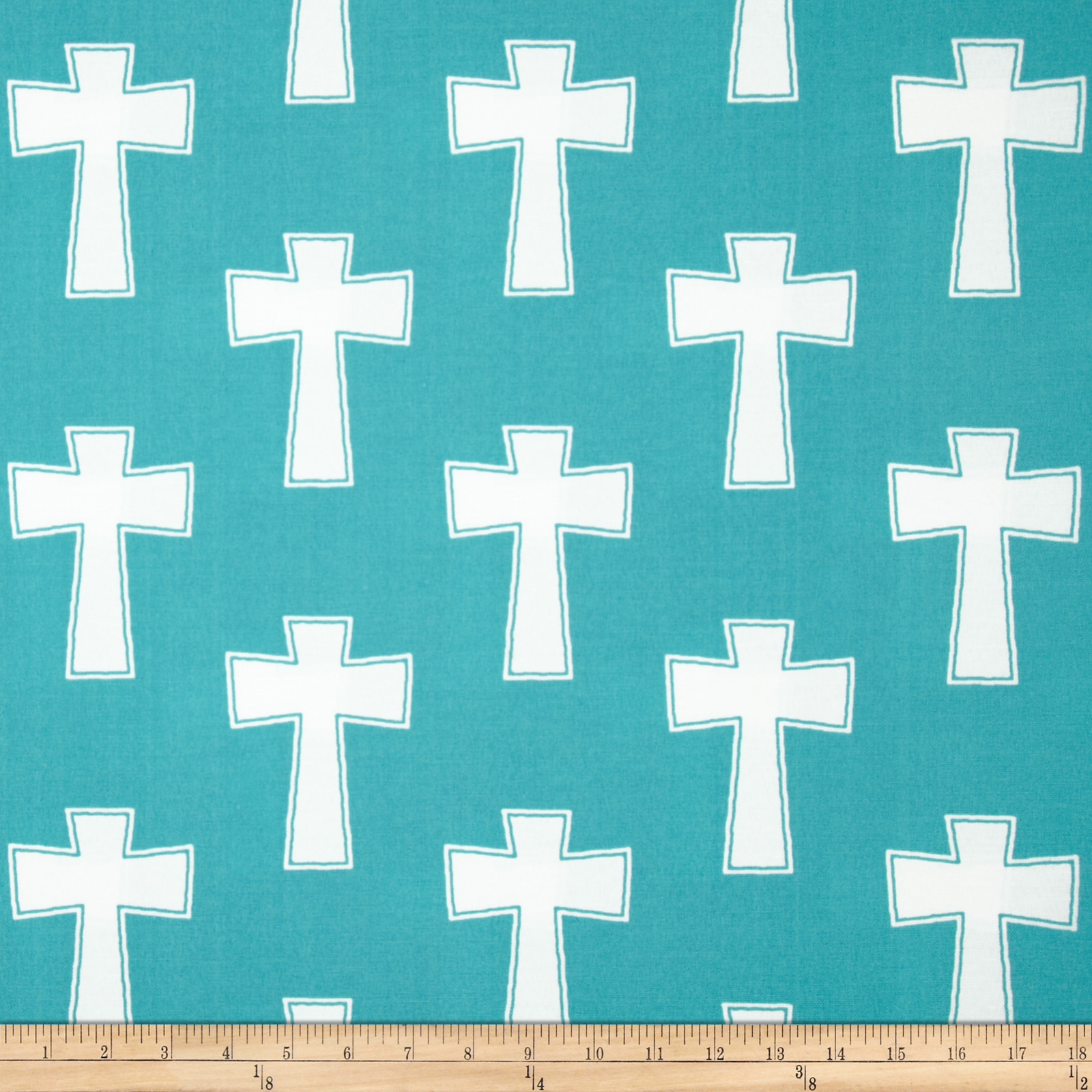 Premier Prints Indoor/Outdoor Cross Ocean Fabric