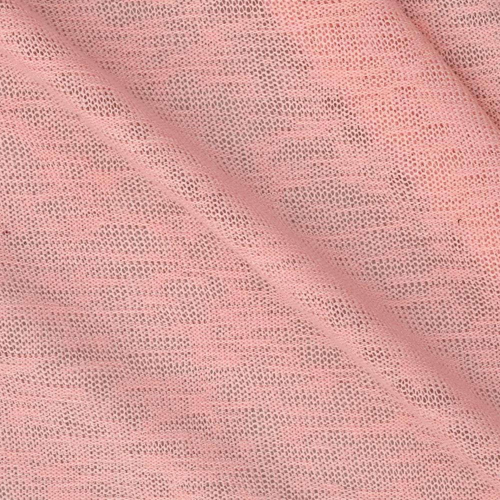 Slub Sweater Knit Solid Warm Vintage Pink