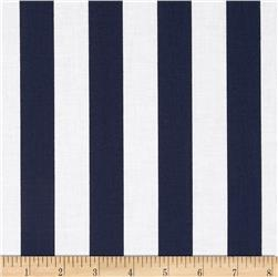"Riley Blake 1"" Stripe Navy"