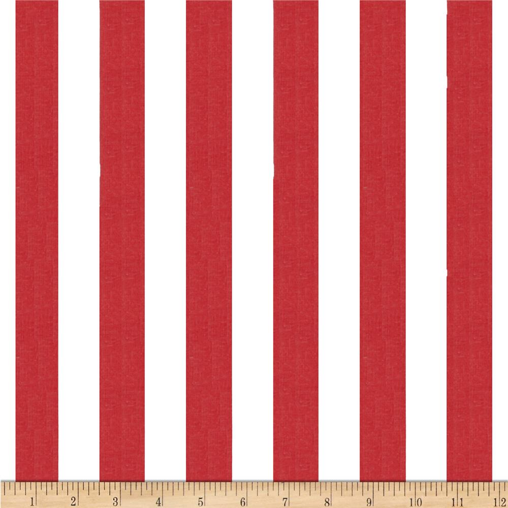 1 in. Stripe Red/White