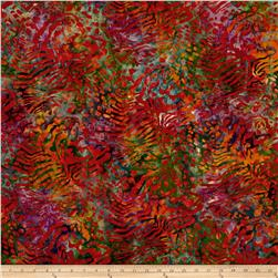 Kaufman Artisan Batiks Tiger Fish Coral Sunset