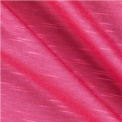 Stretch Slub Rayon Jersey Hot Pink Fabric