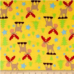 Moose Flannel Yellow