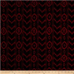 Crepe De Chine Aztec Burgundy/Black