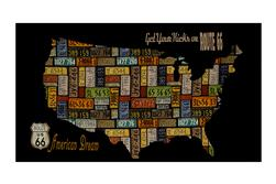 "Jean Poult American Dream 24"" USA Panel Black"