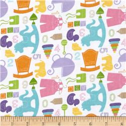 Alpine Flannel Baby Girl White Fabric