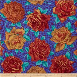 Kaffe Fassett Rose Bloom Cobalt