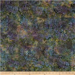 Island Batik Fern Green/Purple/Gold