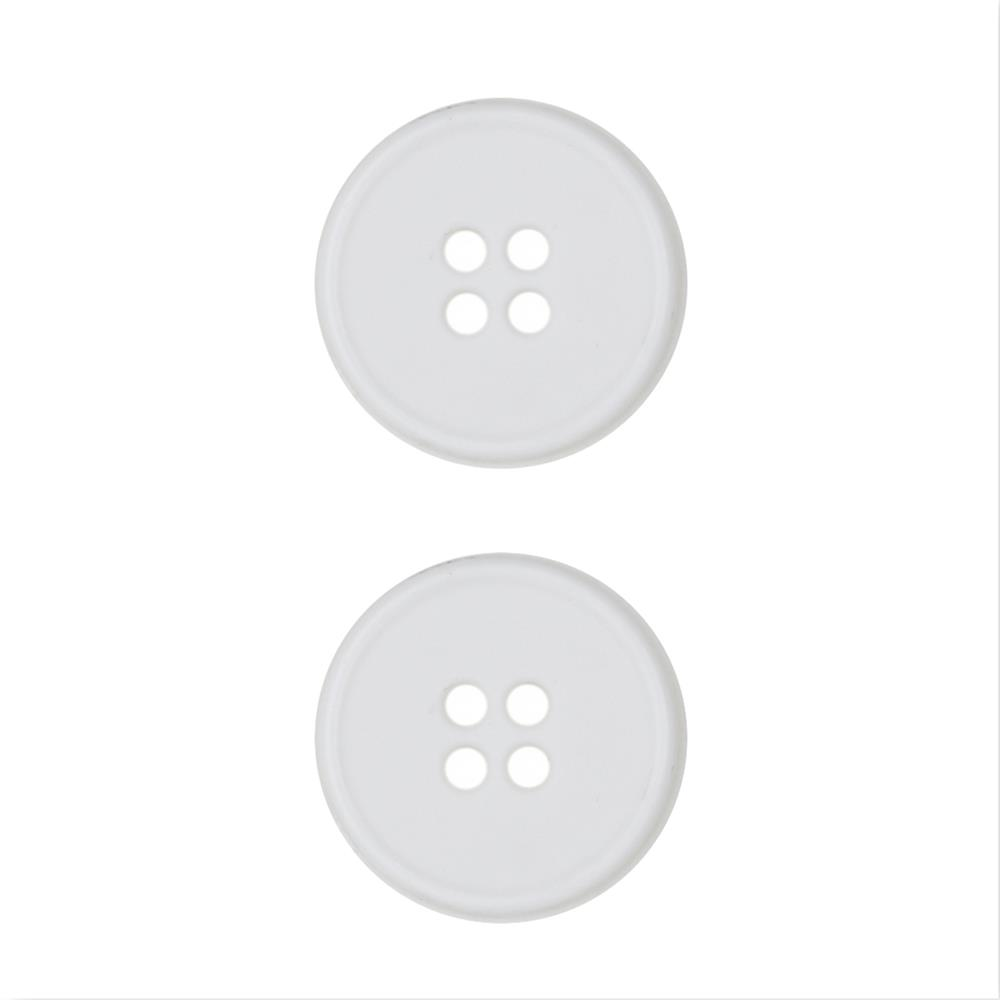 Dill Buttons 3/4'' Polyamid Button White