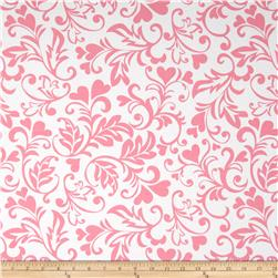Michael Miller Sweetheart Swirly Hearts Pink