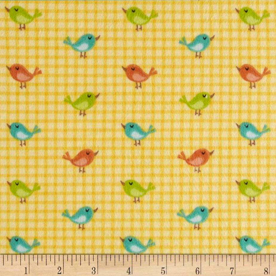 Jungle Jubilee Flannel Birds Yellow
