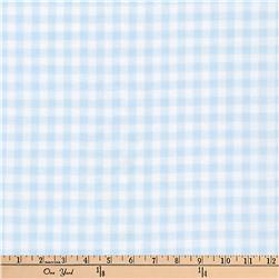 Kaufman Baby Basics Double Gauze Check Baby Blue
