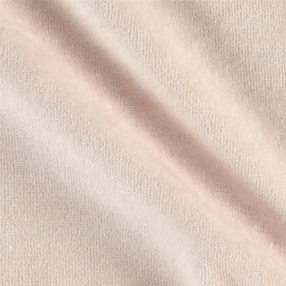 Solid Velour Peach Fabric