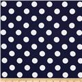 "Riley Blake 108"" Wide Medium Dot Navy"