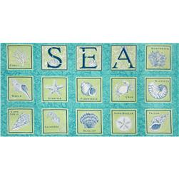 Moda Seascapes Panel Caribbean Blue