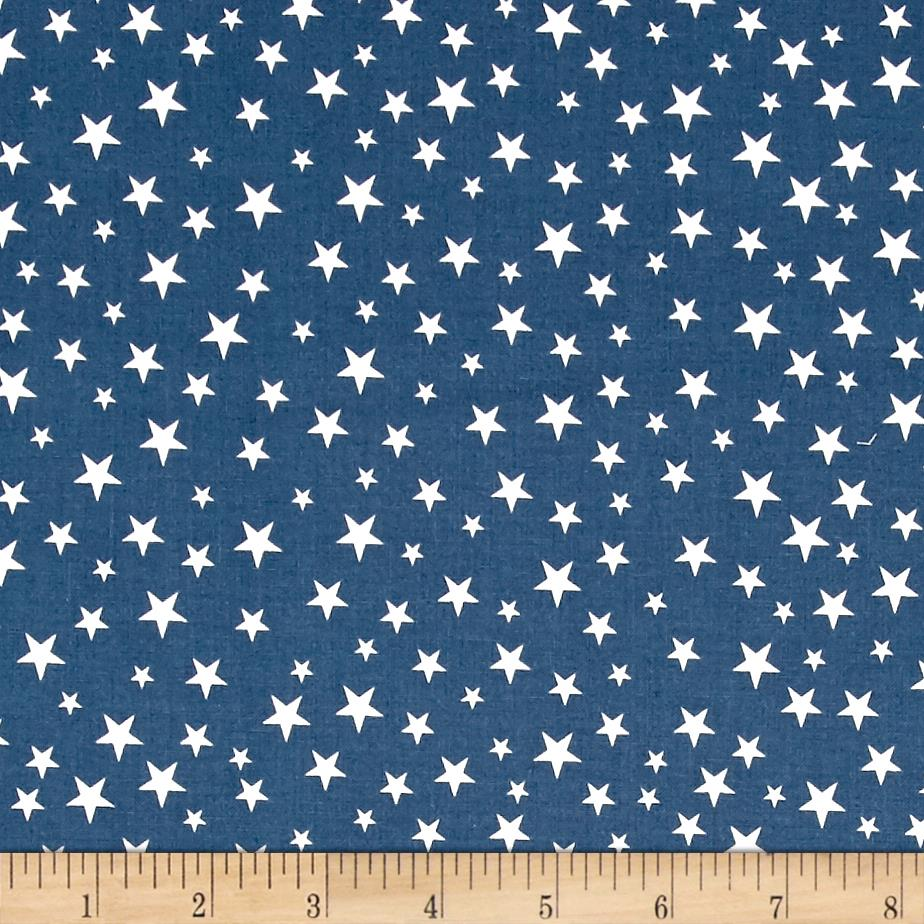 Riley Blake Lost & Found America Mini Stars Blue