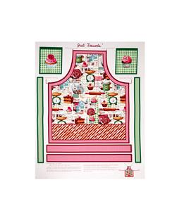 "Just Desserts 24"" Apron Panel Multi"