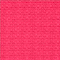 Bermuda Stretch Pique Pink Fabric