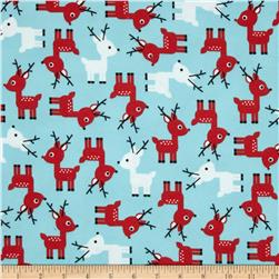 Robert Kaufman Jingle Flannel Small Deer Glacier