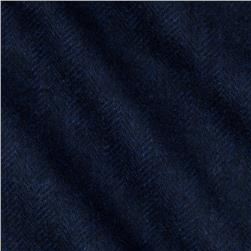 Cozy Yarn Dye Flannel Herringbone Navy