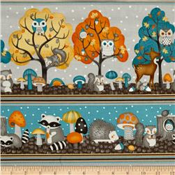 Cute Critters Repeating Stripe Multi