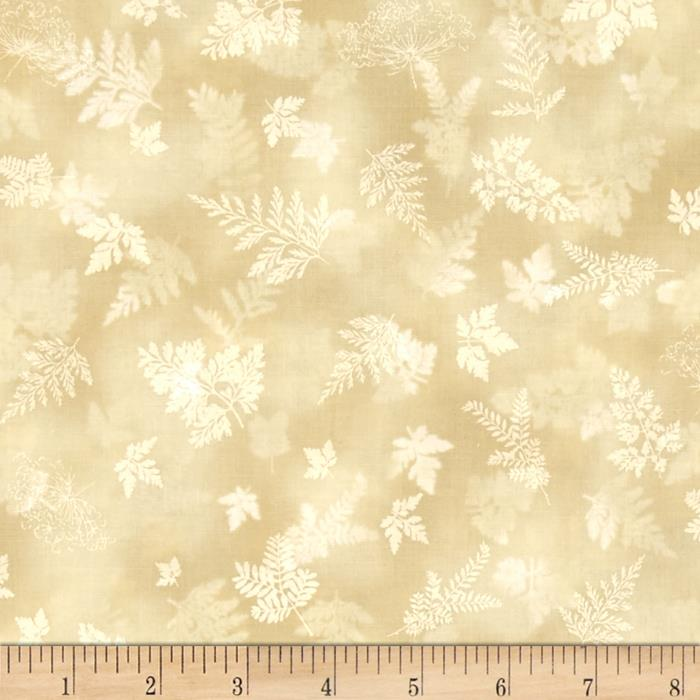 Kaufman Tuscan Wildflower Leaf Linen