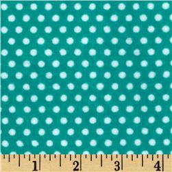 Shannon Minky Cuddle Classic Swiss Dot Breeze/Snow