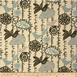 Premier Prints Menagerie Village Blue/Natural