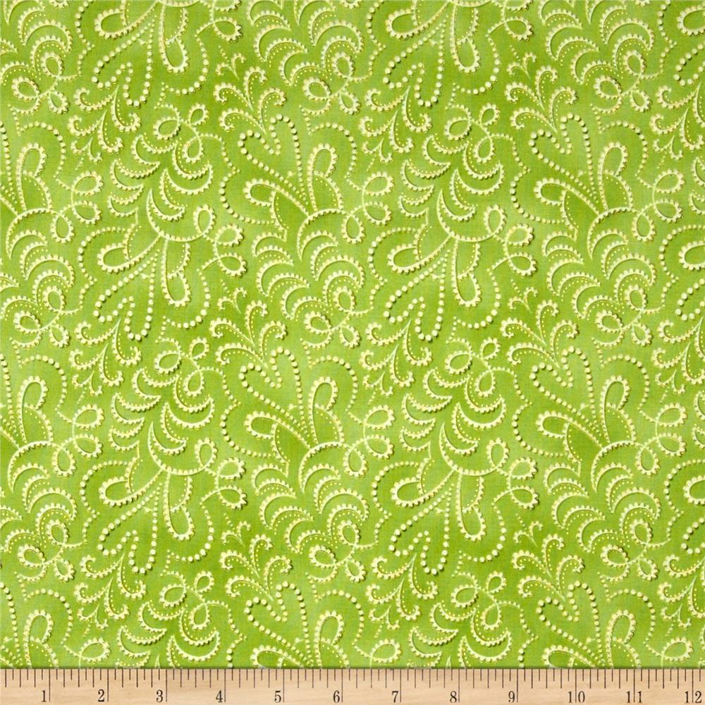 LaScala 5 Metallics Stippled Tonal Chartreuse
