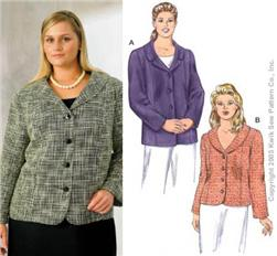 Kwik Sew Four-Button Jackets Plus Size Pattern