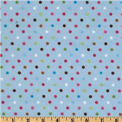 Bonny Bloom Flannel Dots Baby Blue