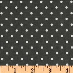 Cozy Cotton Flannel Mini Dot Grey