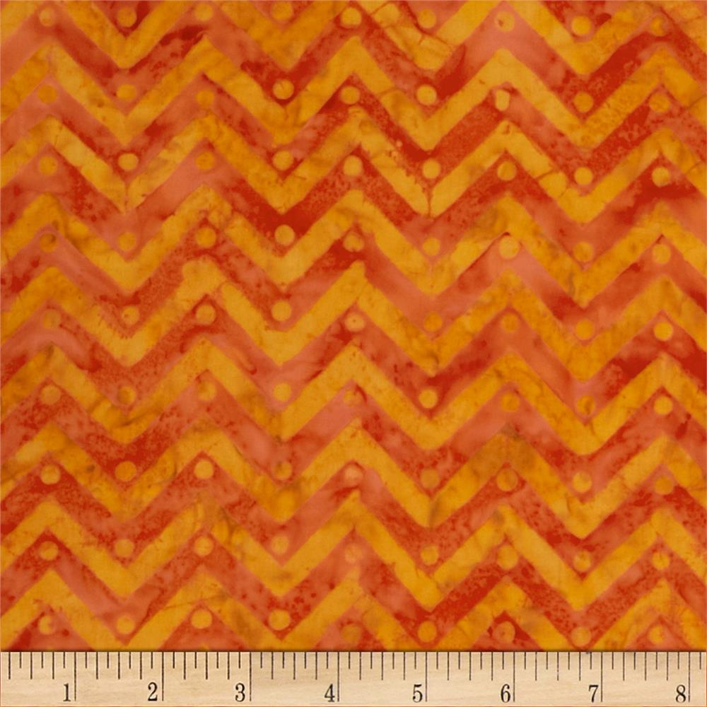 Moda Bobbins & Bits Batiks Pinked Edges Tangy Orange