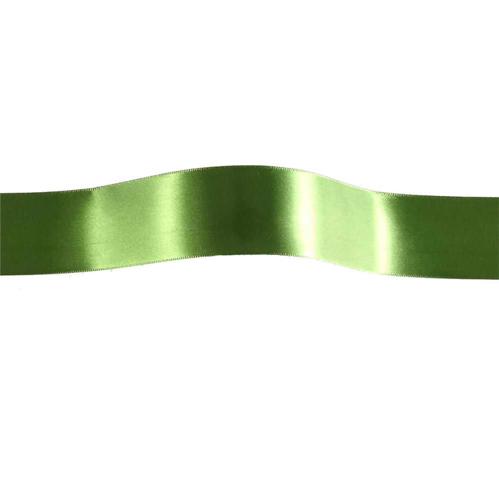 "1 1/2"" Offray Single Face Satin Ribbon Green"
