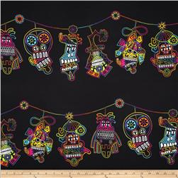 Mi Familia Day Of Dead Border Stripe Black